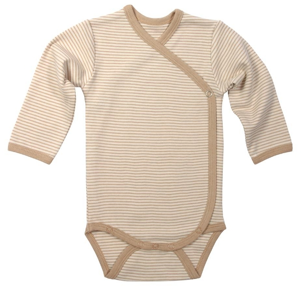 Omslagsbody (Finribbet) Naturlig brun/hvit - 11361