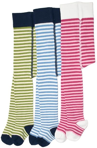 97226a147ce Baby-strømpebukser (m.Lycra) Sangria/ rosa, Blå/ hvite og Grønne/  naturhvite striper - 15221, 15222 og 15223 - produktside