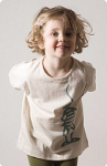 T-skjorte EKO (Jersey) Naturhv. m/trykk
