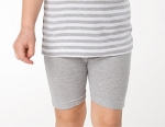 Bermuda-shorts (Finribbet) Gråmelert