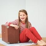 Todelt pyjamas (Finribbet) Rødstripet