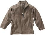 Sweater (Bomulls-fleece) Brungrå
