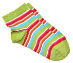 Korte sokker (m.Lycra) Grønne med striper