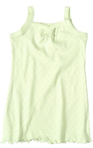 Kjole (Ajour) Lys grønn og rosa