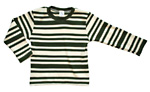 Langermet t-skjorte (Int.) Grønne/gulhvite striper