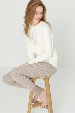 Pyjamas dame (Interlock) Gråbrun