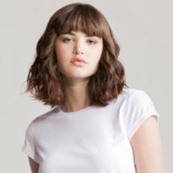 T-skjorte rulleermer dame (Jersey) Hvit