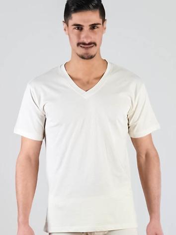 T-skjorte i ubleket, naturhvit farge
