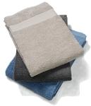 Håndkle EKO (Frotté) Beige, Mørk grå og Denimblå